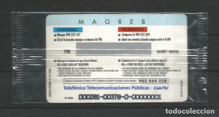 """Tarjetas telefónicas de colección: TARJETA TELEFÓNICA.""""LLAMADAS INTERNACIONALES, MAGREB"""" NUEVA CON PRECINTO. FACIAL 6,01 EUROS - Foto 2 - 213020757"""