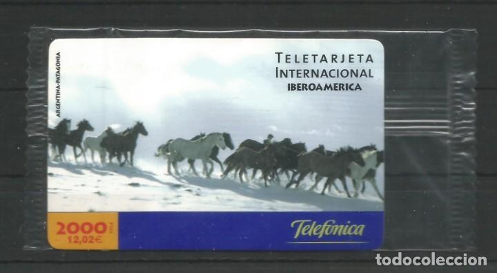 """TARJETA TELEFÓNICA.""""LLAMADAS INTERNACIONALES, IBEOAMÉRICA"""" NUEVA CON PRECINTO. FACIAL 12,02 EUROS (Coleccionismo - Tarjetas Telefónicas)"""
