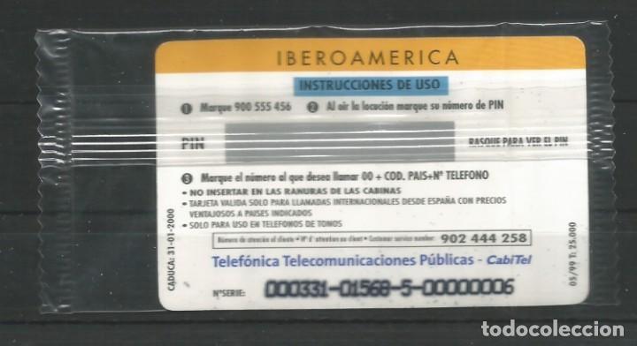 """Tarjetas telefónicas de colección: TARJETA TELEFÓNICA.""""LLAMADAS INTERNACIONALES, IBEOAMÉRICA"""" NUEVA CON PRECINTO. FACIAL 12,02 EUROS - Foto 2 - 213021665"""
