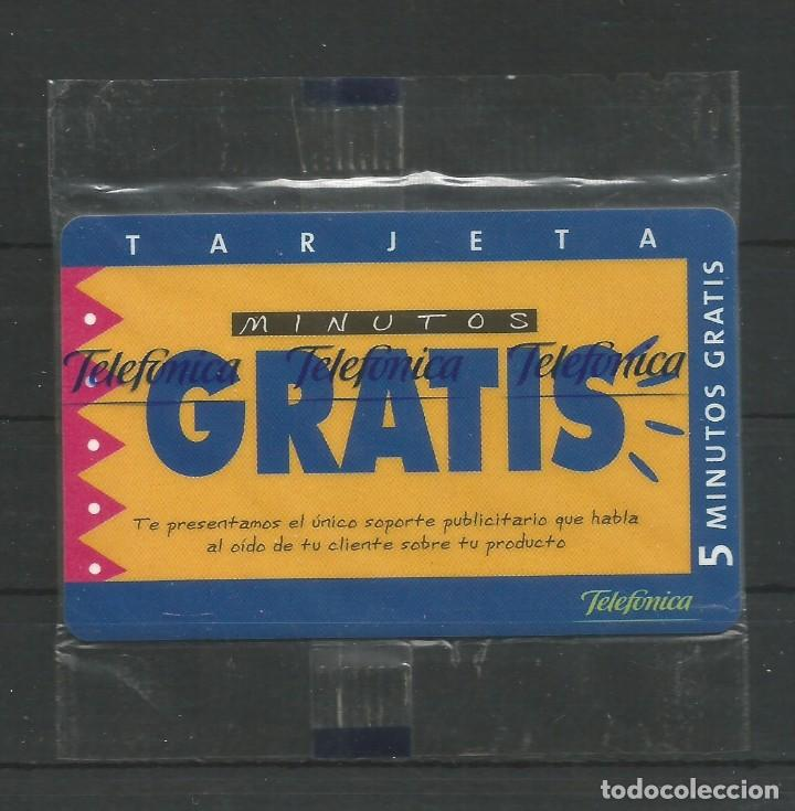 """TARJETA TELEFÓNICA.""""LLAMADAS GRATIS - 5 MINUTOS GRATIS"""" NUEVA CON PRECINTO. (Coleccionismo - Tarjetas Telefónicas)"""