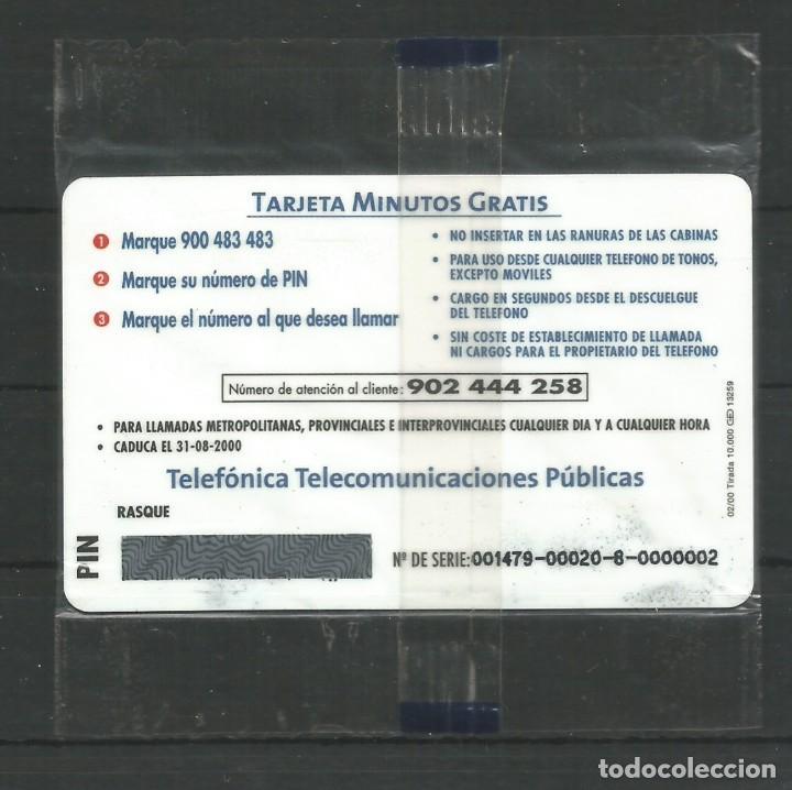 """Tarjetas telefónicas de colección: TARJETA TELEFÓNICA.""""LLAMADAS GRATIS - 5 MINUTOS GRATIS"""" NUEVA CON PRECINTO. - Foto 2 - 213021906"""