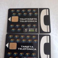 Tarjetas telefónicas de colección: TELEFÓNICA TARJETA 1000 Y 2000 PESETAS. Lote 213471428