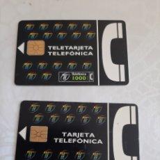 Tarjetas telefónicas de colección: TARJETA TELEFÓNICA 2000 Y 1000 PESETAS USADA. Lote 213471496