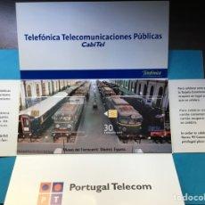 Tarjetas telefónicas de colección: R-1)TARJETA,, ESPAÑA-PORTUGAL,,MUSEO DEL FERROCARRIL,,99,,ESTADO NUEVO SIN USÓ. Lote 215021637
