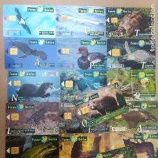 Tarjetas telefónicas de colección: LOTE 20 TARJETAS TELEFONICA DE FAUNA IBERICA PESETAS TELEFONO COLECCION. Lote 217709991