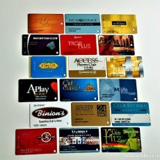 Tarjetas telefónicas de colección: LOTE DE TARJETAS TIPO TELEFONICAS DE HOTELES, CLUB PRIVADOS Y OTROS VARIAS. Lote 218439128