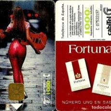 Tarjetas telefónicas de colección: TARJETA TELEFÓNICA 1995-08-01 (FORTUNA SABE A TI) (1.000 PTS) (TIRADA 1.000.000) (CHIP: S3) USADA. Lote 218606872