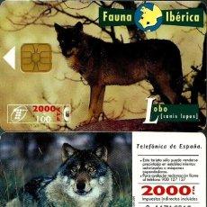 Tarjetas telefónicas de colección: TARJETA TELEFÓNICA 1996-04-01 (LOBO) (2.000 PTS) (TIRADA 1.000.000) (CHIP:S3) USADA. Lote 218608376