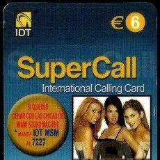 Tarjetas telefónicas de colección: TARJETA TELEFÓNICA (E) (PRE-PAGO) (I.D.T.) (6 €) (SUPERCALL-DISCO) USADA. Lote 218905666