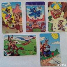 Tarjetas telefónicas de colección: CORRECAMINOS -LOTE DE 5 (GRAN BRETAÑA). Lote 219845608