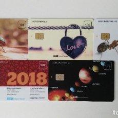 Tarjetas telefónicas de colección: TARJETAS ISERN A 1 EURO LA UNIDAD. Lote 220576286