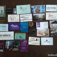 Tarjetas telefónicas de colección: LOTE DE 25 TARJETAS DE PUBLICIDAD DE BARES, HOTELES, RESTAURANTES.. Lote 221161907