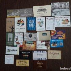 Tarjetas telefónicas de colección: LOTE DE 25 TARJETAS DE PUBLICIDAD DE BARES, HOTELES, RESTAURANTES.. Lote 221161937