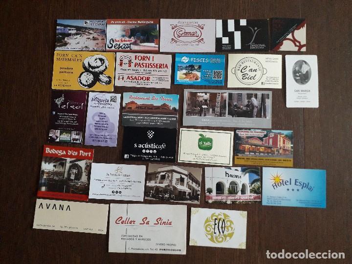 LOTE DE 25 TARJETAS DE PUBLICIDAD DE BARES, HOTELES, RESTAURANTES. (Coleccionismo - Tarjetas Telefónicas)