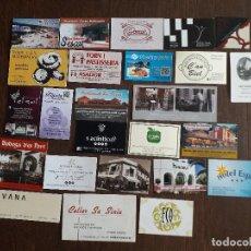 Tarjetas telefónicas de colección: LOTE DE 25 TARJETAS DE PUBLICIDAD DE BARES, HOTELES, RESTAURANTES.. Lote 221162020