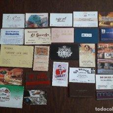 Tarjetas telefónicas de colección: LOTE DE 25 TARJETAS DE PUBLICIDAD DE BARES, HOTELES, RESTAURANTES.. Lote 221162057