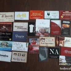 Tarjetas telefónicas de colección: LOTE DE 25 TARJETAS DE PUBLICIDAD DE BARES, HOTELES, RESTAURANTES.. Lote 221162068