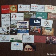 Tarjetas telefónicas de colección: LOTE DE 25 TARJETAS DE PUBLICIDAD DE BARES, HOTELES, RESTAURANTES.. Lote 221162080