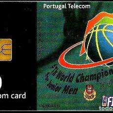 Tarjetas telefónicas de colección: TARJETA TELEFONICA (PORTUGAL) PT238 (BALONCESTO'99) (50 U) (CHIP:GEM1A) (50.000) (1999-07) USADA. Lote 222272616