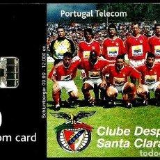 Tarjetas telefónicas de colección: TARJETA TELEFONICA (PORTUGAL) PT240 (STA. CLARA CLUB) (50 U) (CHIP:SC7) (12.000) (1999-09) USADA. Lote 222273166