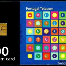 Tarjetas telefónicas de colección: TARJETA TELEFONICA (PORTUGAL) PT243 (ABECEDARIO) (100 U) (CHIP:GEM1A) (400.000) (1999-09) USADA. Lote 222273996