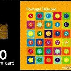 Tarjetas telefónicas de colección: TARJETA TELEFONICA (PORTUGAL) PT244 (ABECEDARIO) (150 U) (CHIP:ODS3) (200.000) (1999-09) USADA. Lote 222276845