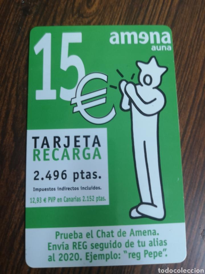 TAS77. TARJETA TELEFÓNICA. AMENA 15 EUROS (Coleccionismo - Tarjetas Telefónicas)