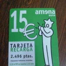 Tarjetas telefónicas de colección: TAS77. TARJETA TELEFÓNICA. AMENA 15 EUROS. Lote 222480355