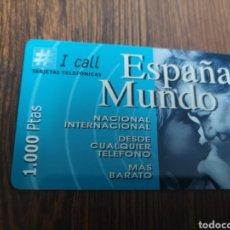 Tarjetas telefónicas de colección: TAS78. TARJETA TELEFÓNICA. ESPAÑA MUNDO I CALL. Lote 222480536