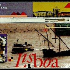Tarjetas telefónicas de colección: TARJETA TELEFONICA (PORTUGAL) PTO1 (LISBOA) (50 U)(LANDIS) (55.000) (1995-02) (CONTROL:502B) USADA. Lote 222609043