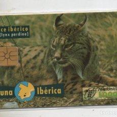 Cartões de telefone de coleção: FAUNA IBERICA-LINCE IBERICO-CON L ESTRECHA-CON FUNDA DE NUEVO-7. Lote 232110870