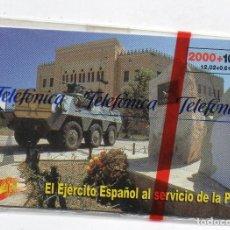 Cartes Téléphoniques de collection: EL EJERCITO ESPAÑOL-21-TIRADA 9200-CON FUNDA DE NUEVO. Lote 232379270