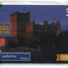 Cartões de telefone de coleção: CASTILLOS CON HISTORIA-GUADAMUR-TOLEDO-CON FUNDA DE NUEVO. Lote 232932810