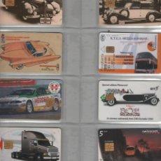 Cartões de telefone de coleção: LOTE DE 8 TARJETAS DE COCHES. Lote 234759180