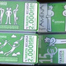 Tarjetas telefónicas de colección: COLECCION DE 96 TARJETAS TELEFONICAS USADAS DE ESPAÑA TODAS DIFERENTES. Lote 234804860