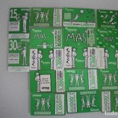 Tarjetas telefónicas de colección: 17 TARJETAS DE RECARGA AMENA AÑOS 1999 A 2003 TODAS DISTINTAS FECHAS. Lote 234872730