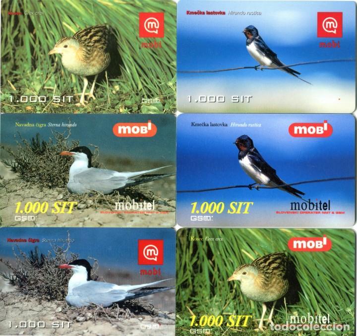 LOTE 14 TARJETAS TELEFONICAS DE PREPAGO MOBITEL TEMA: PAJAROS (Coleccionismo - Tarjetas Telefónicas)
