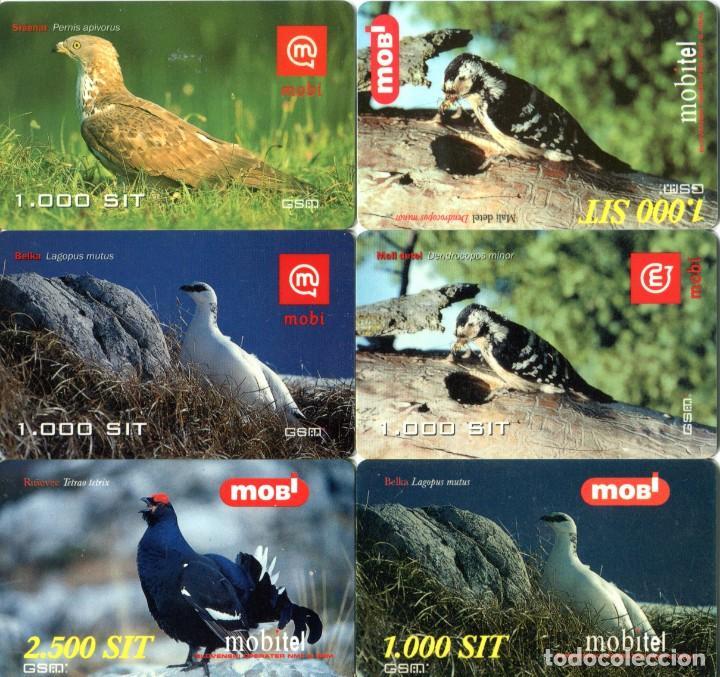 Tarjetas telefónicas de colección: Lote 14 tarjetas TELEFONICAS de prepago MOBITEL TEMA: PAJAROS - Foto 2 - 235037865
