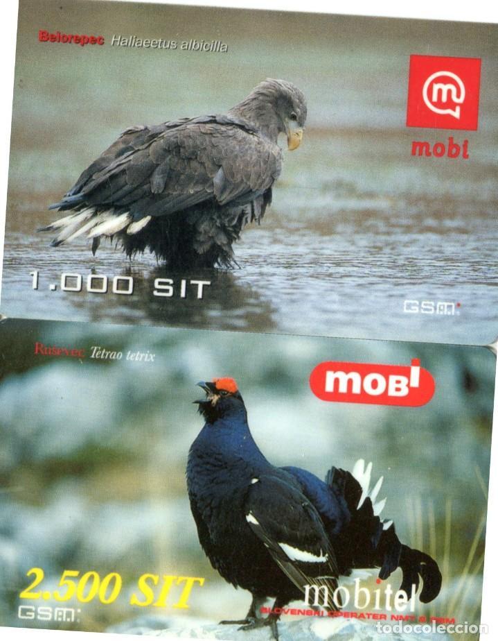 Tarjetas telefónicas de colección: Lote 14 tarjetas TELEFONICAS de prepago MOBITEL TEMA: PAJAROS - Foto 3 - 235037865