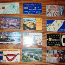 Tarjetas telefónicas de colección: LOTE 12 TARJETAS TELEFÓNICAS. Lote 235347320