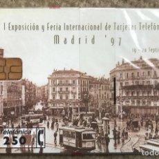Tarjetas telefónicas de colección: ESPAÑA TARJETA TELEFÓNICA I EXPOSICIÓN Y FERIA TARJETAS TELEFÓNICA 1997 - CARDEX 97 - PRECINTADA. Lote 235349490