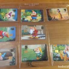 Cartões de telefone de coleção: BLANCANIEVES , ENANITOS .LOTE DE 8 COLECCION COMPLETA , NUEVAS PRECINTADAS . TARJETAS TELEFONICA. Lote 235490425