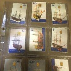 Cartões de telefone de coleção: BARCOS .LOTE DE 9 , NUEVAS PRECINTADAS . TARJETAS TELEFONICA. Lote 235541700