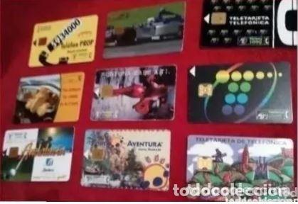 LOTE DE 9 TARJETAS TELEFÓNICAS (Coleccionismo - Tarjetas Telefónicas)