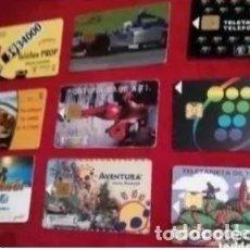 Tarjetas telefónicas de colección: LOTE DE 9 TARJETAS TELEFÓNICAS. Lote 235835085