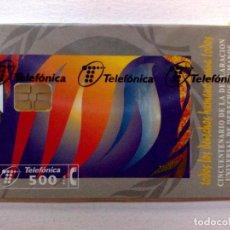 Tarjetas telefónicas de colección: TARJETA TELEFONICA:P-351: DERECHOS HUMANOS (250 PTA.) TIRADA 6.000 EJEMPLARES,PRECINTADA (09/98). Lote 235879665