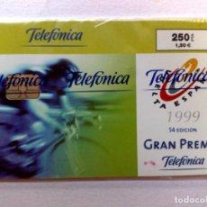 Tarjetas telefónicas de colección: TARJETA TELEFONICA:P-398:¡VARIEDAD! VUELTA ESPAÑA'99 (250 PTA.) T. 8.000 EX.,PRECINTADA (08/99) DESC. Lote 235881450