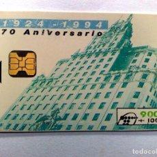 Tarjetas telefónicas de colección: TARJETA TELEFONICA;B-028:ANIVERSARIO TELEFONICA 70 AÑOS,(900+100 PTA.) 1924-1994 (05/94). Lote 243973710