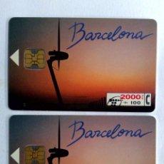 Tarjetas telefónicas de colección: TARJETAS TELEFONICAS;CP-030/CP-031:BARCELONA (SERIE COMPL.) 2000+100+1000PTA. (07/94). Lote 243974680