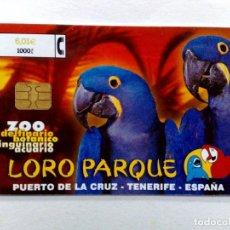 Tarjetas telefónicas de colección: TARJETA TELEFONICA;CP-234: LORO PARQUE (6,01€.) 08/01. Lote 243976280